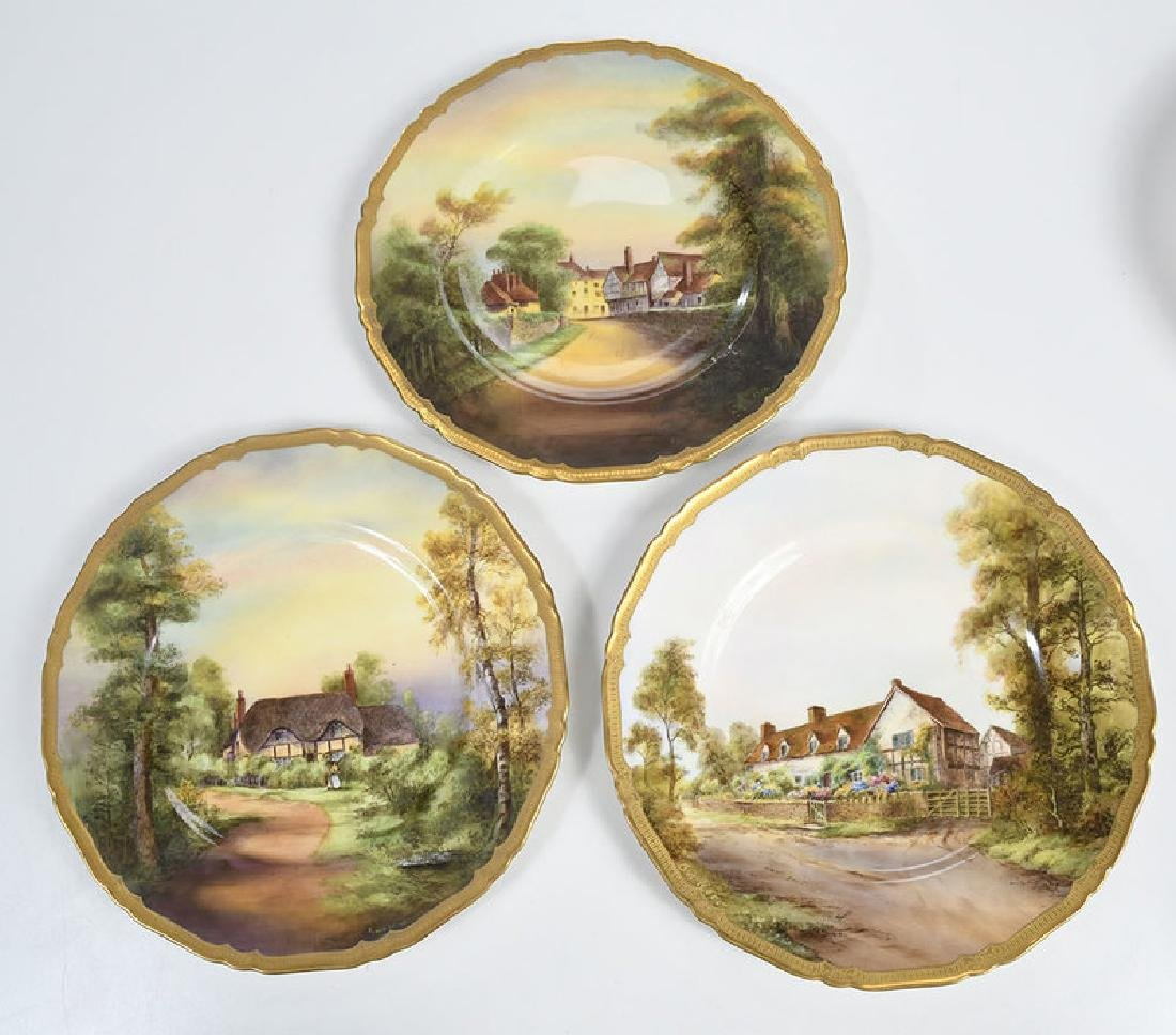 Eight Royal Worcester Service Plates - 5