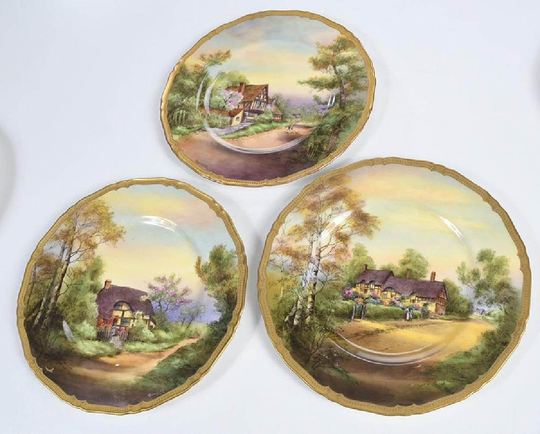 Eight Royal Worcester Service Plates - 9