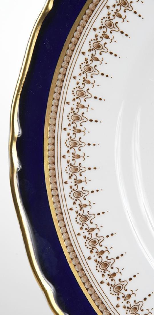 12 Royal Worcester Cobalt and Gold Plates - 3