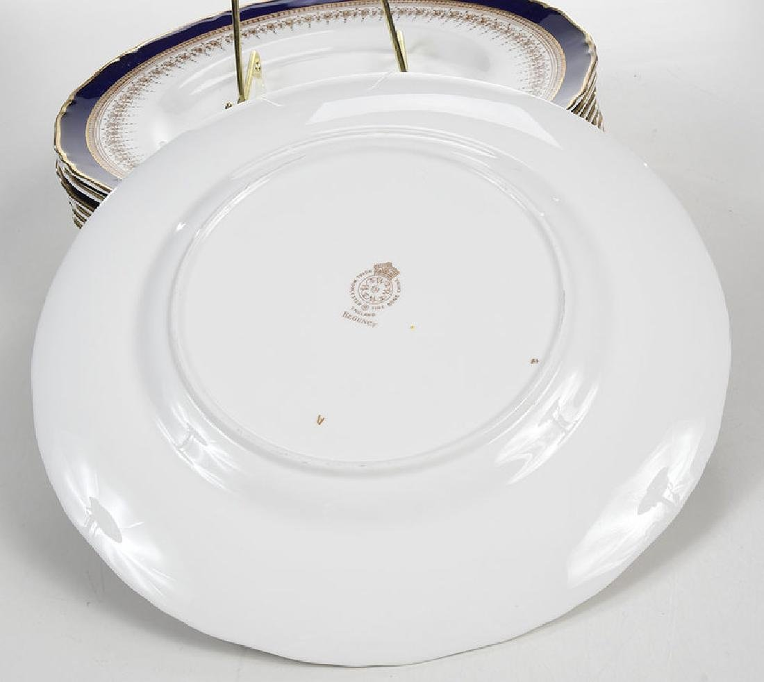 12 Royal Worcester Cobalt and Gold Plates - 4
