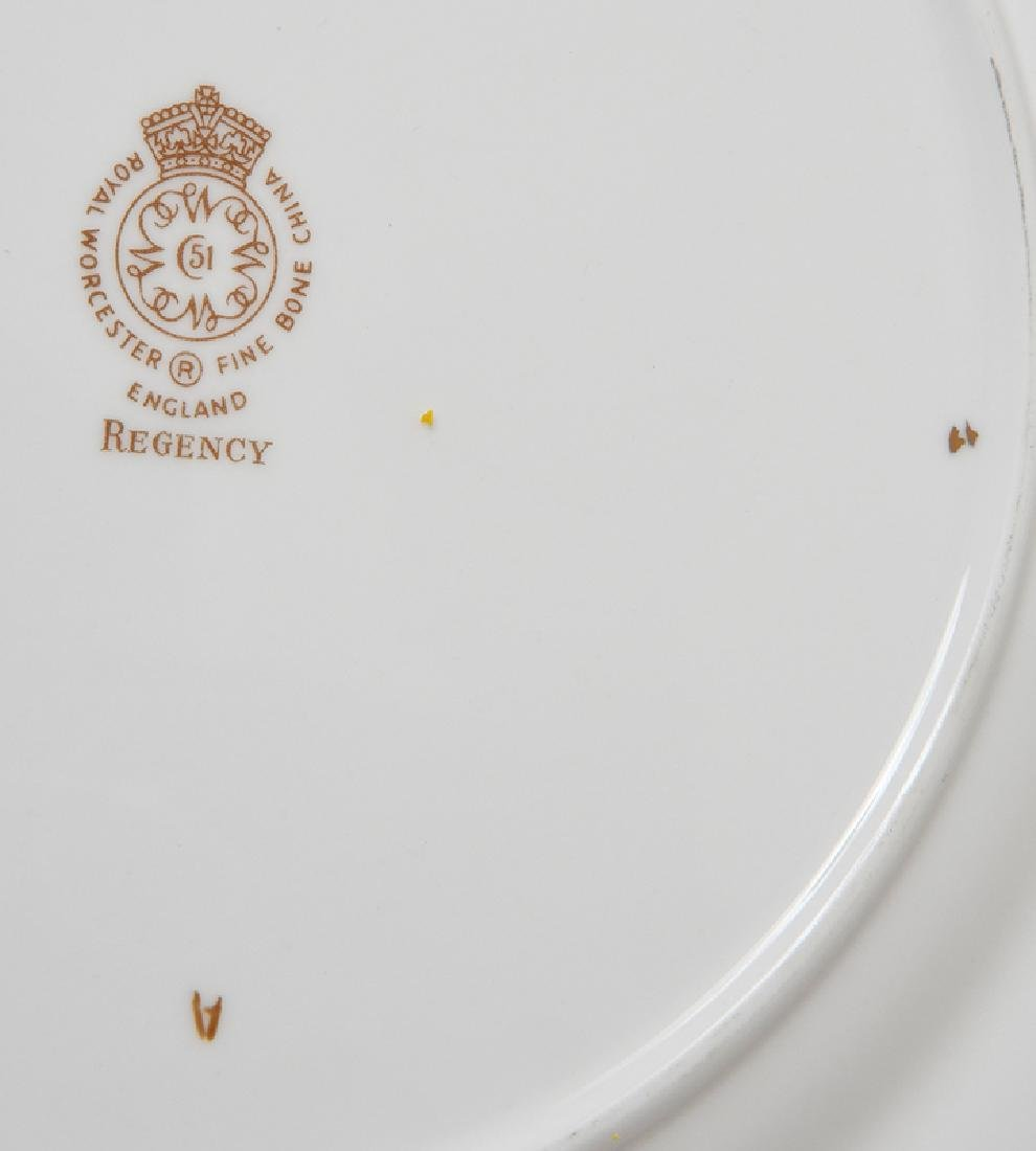 12 Royal Worcester Cobalt and Gold Plates - 5