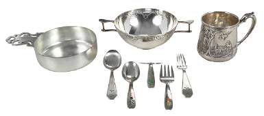 Eight Sterling Children Items