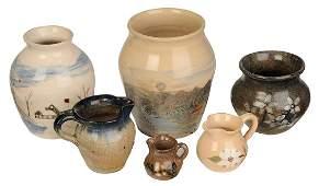 Six Pieces of Hilton Pottery