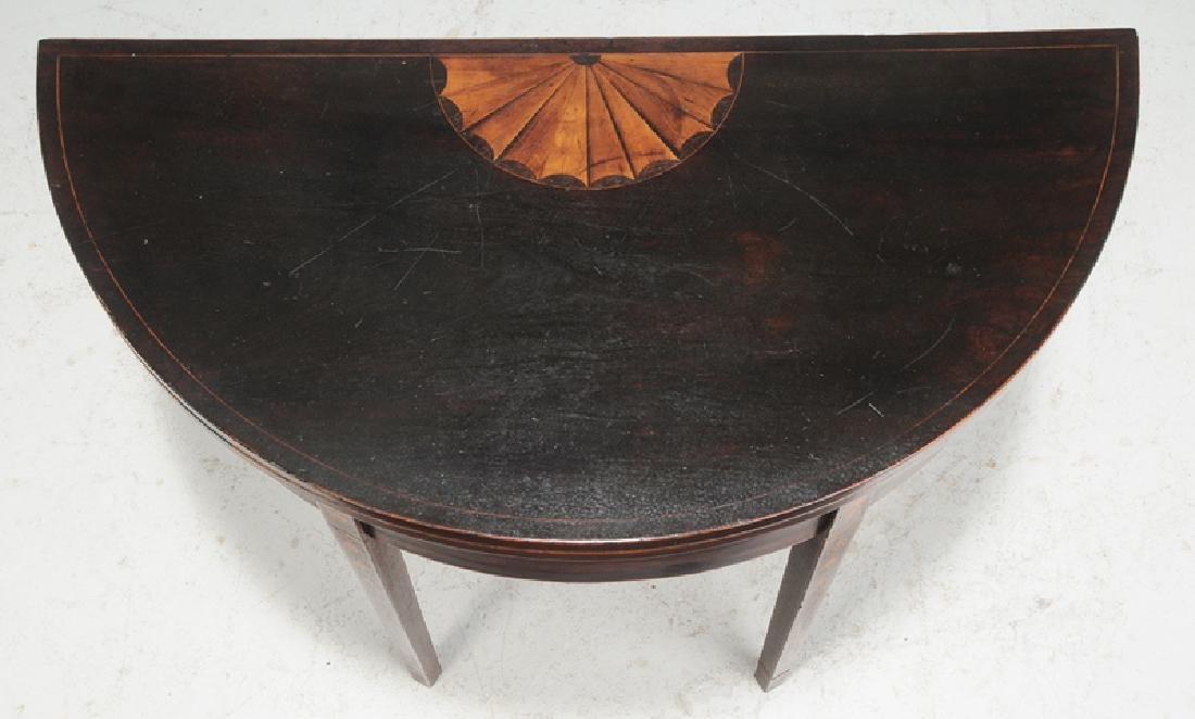 Southern Federal Inlaid Mahogany Games Table - 3