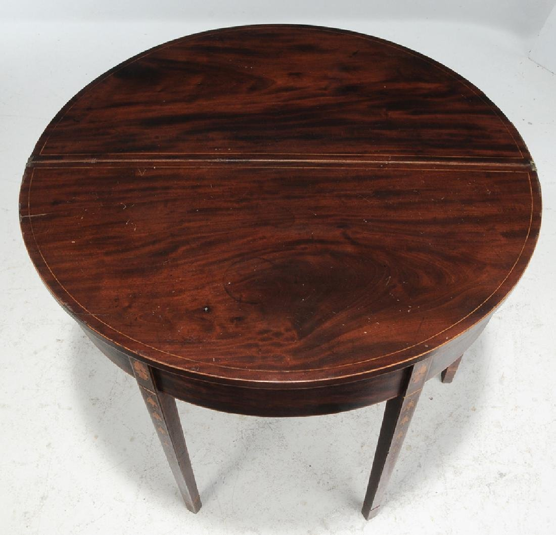 Southern Federal Inlaid Mahogany Games Table - 5