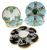 Five Majolica Shell Plates
