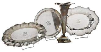 Four Sterling Table Items