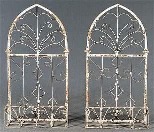 2: Pair iron architectural elements: