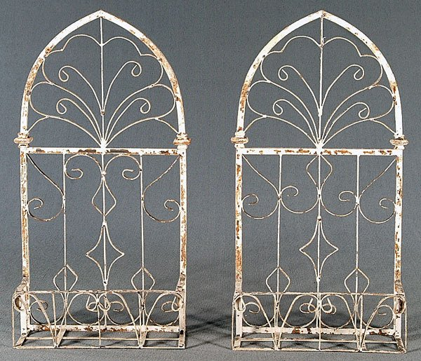 2: Pair iron architectural elements: