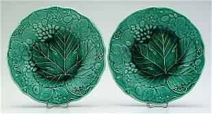 3: Two majolica plates: