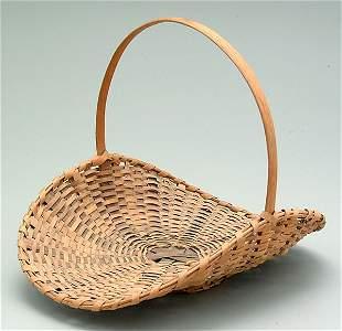 7: Cherokee oak split flower basket,