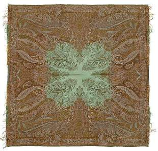 12: Jacquard woven paisley shawl,