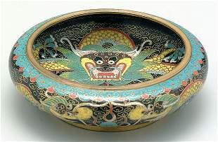 13: Cloisonné bowl,
