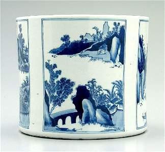 22: Chinese porcelain brush pot,