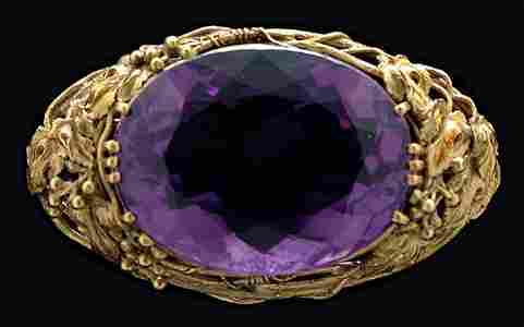 136: Vintage Tiffany amethyst brooch: