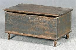 343: Miniature poplar blanket chest,