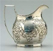 473: English silver cream jug,