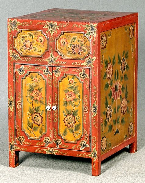701: Painted Chinese cabinet,