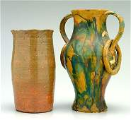 711: Two pieces art pottery: