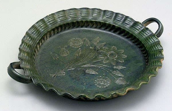 717: Decorated earthenware plate,