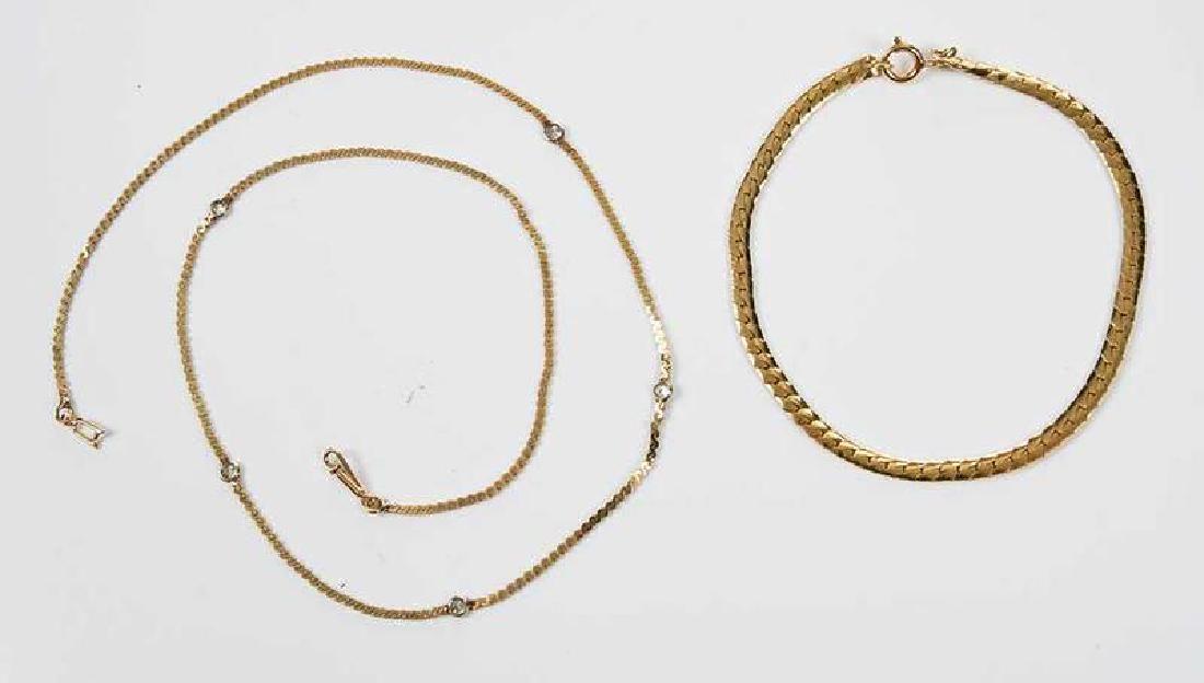 14kt Diamond Necklace and Bracelet