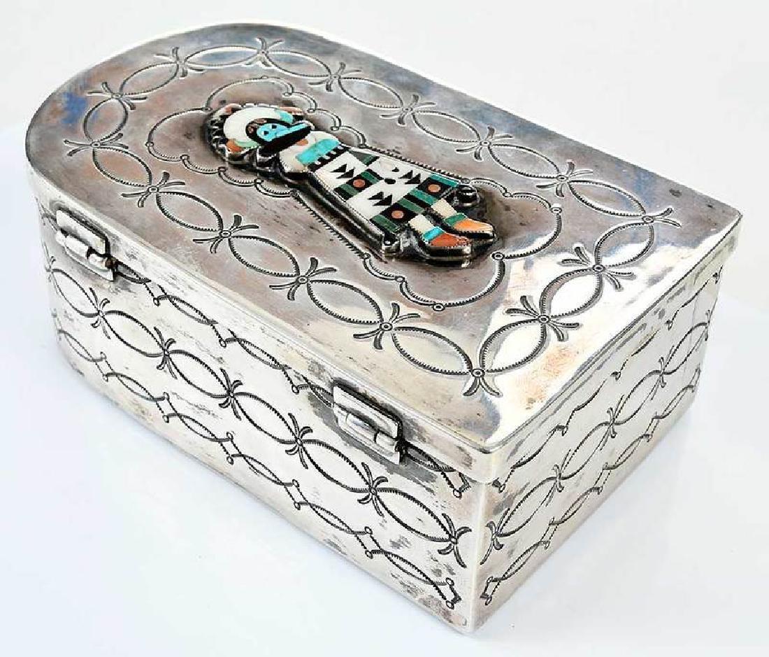Silver Kachina Box - 4