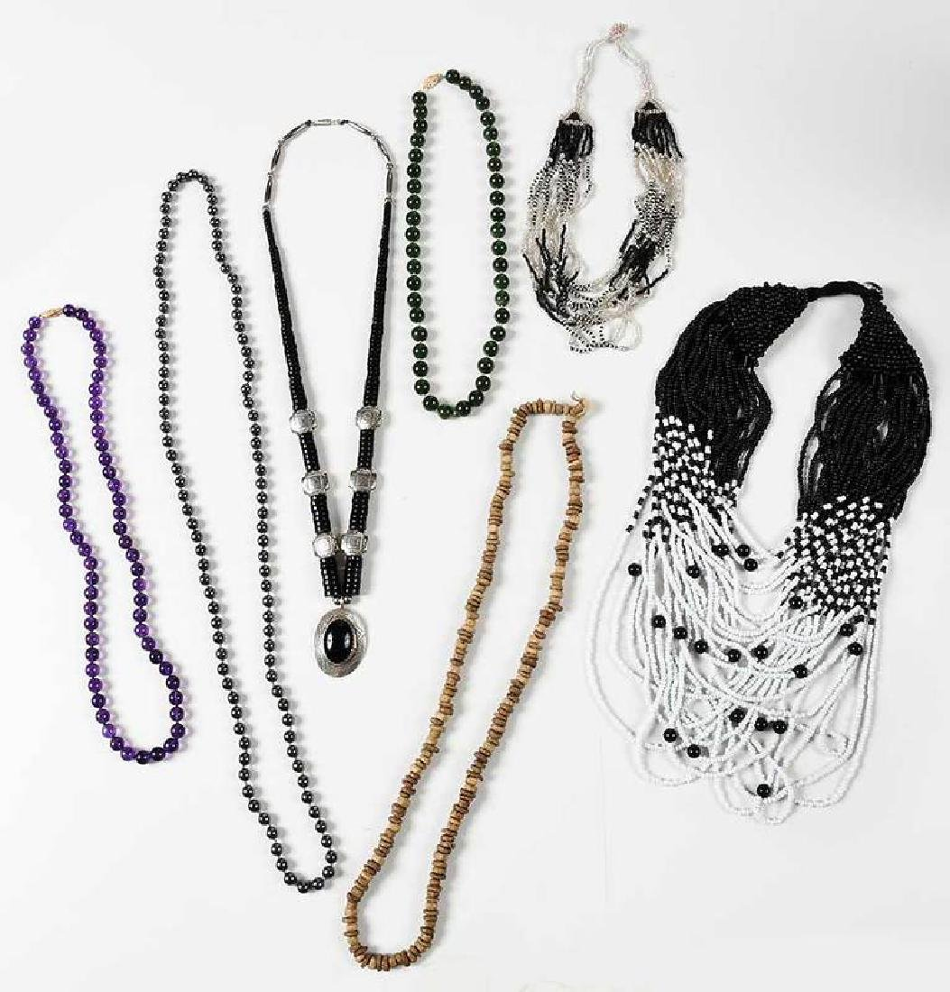 Seven Bead Necklaces