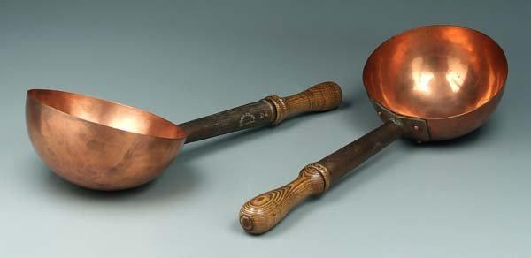 11: Two Beyer copper ladles: