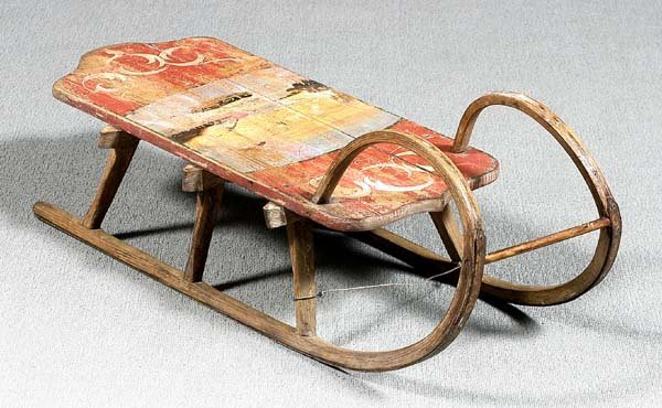 15: Bentwood sled,