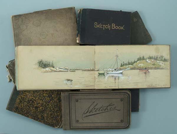 226: Eleven James W. Pattison sketchbooks