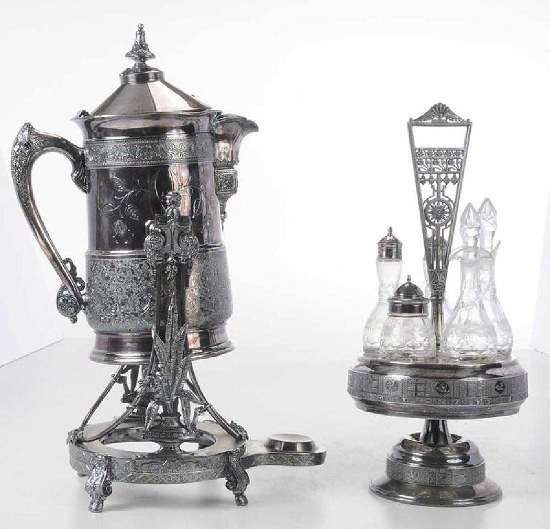 Two Pieces Victorian Silver Plate