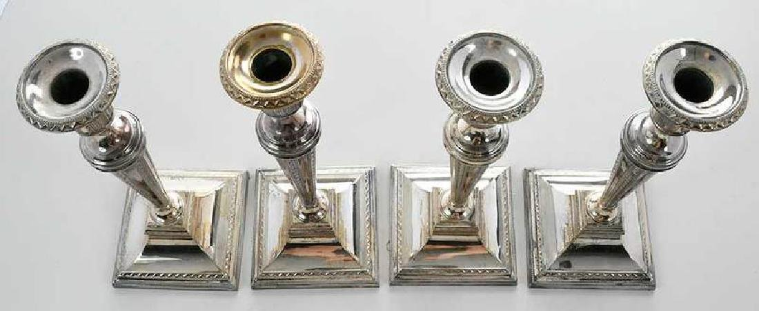 Set of Four Silver-Plate Candlesticks - 5