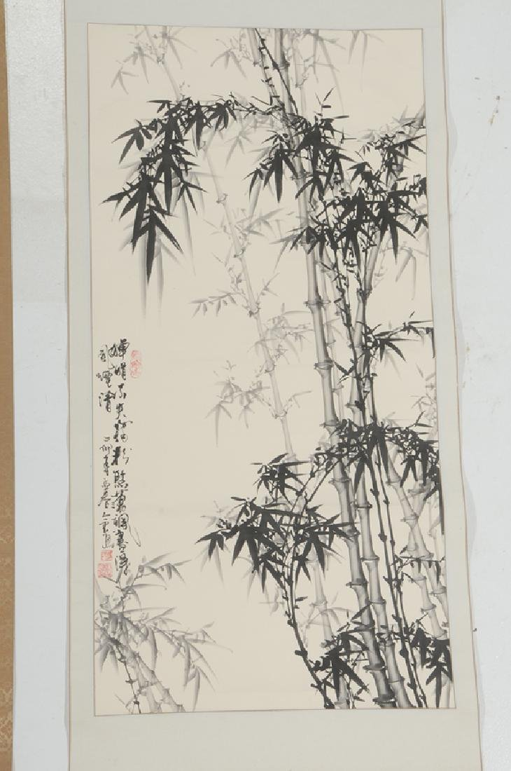 Two Asian Hand Painted Scrolls - 3
