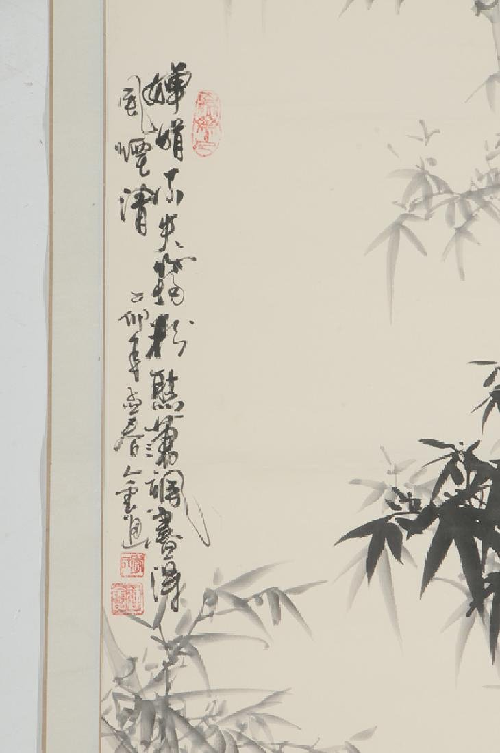Two Asian Hand Painted Scrolls - 5