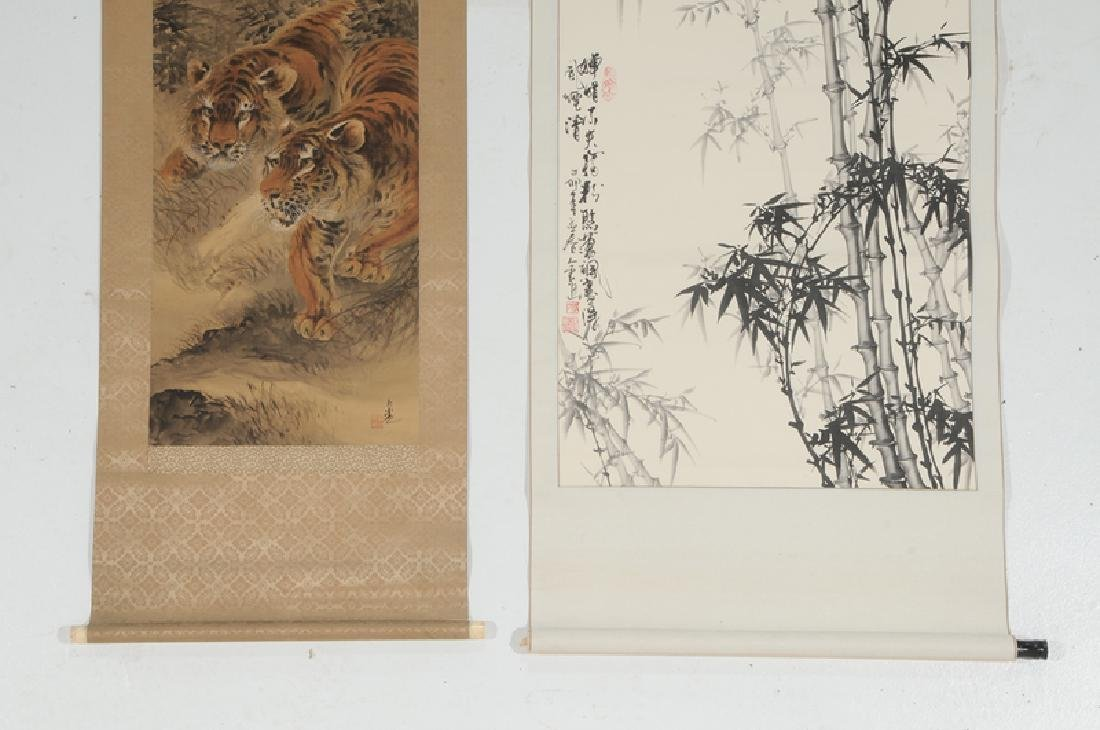 Two Asian Hand Painted Scrolls - 7