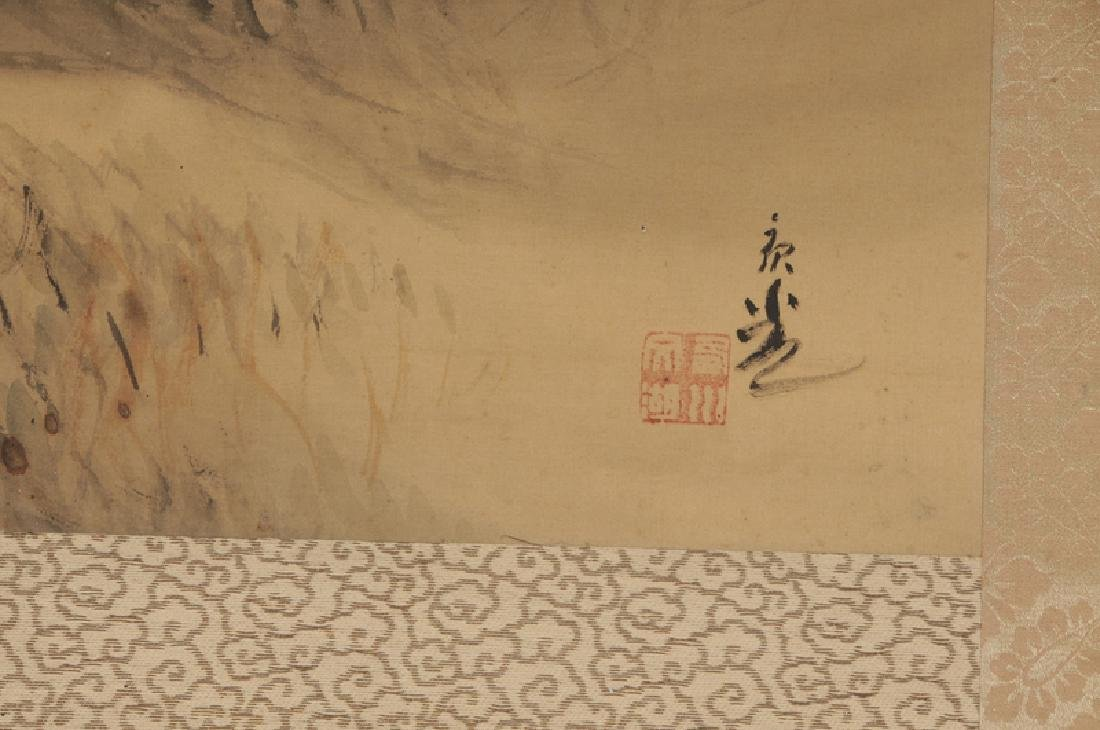 Two Asian Hand Painted Scrolls - 8