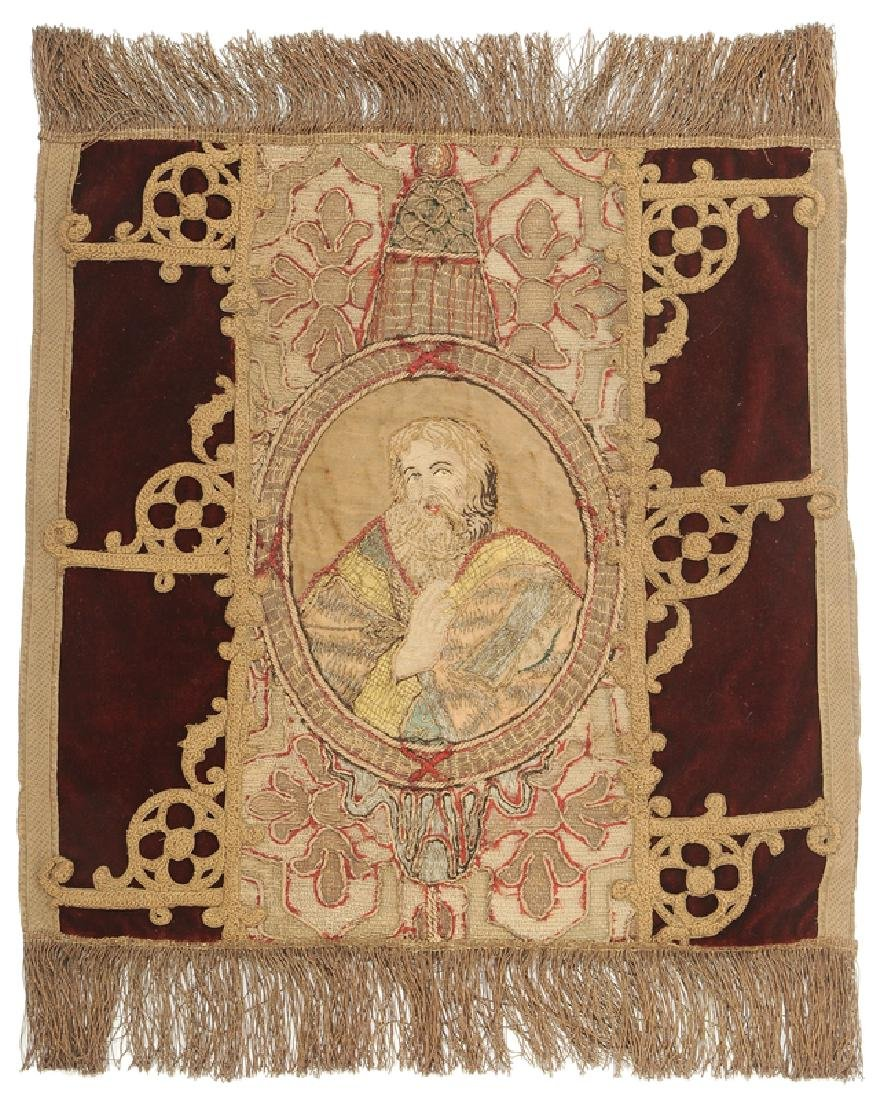 17th Century Russian Embroidery of an Evangelist