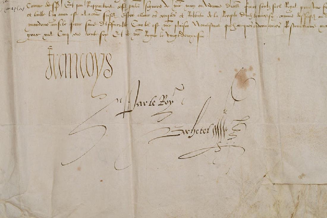 A Francis I, King of France, Document - 2
