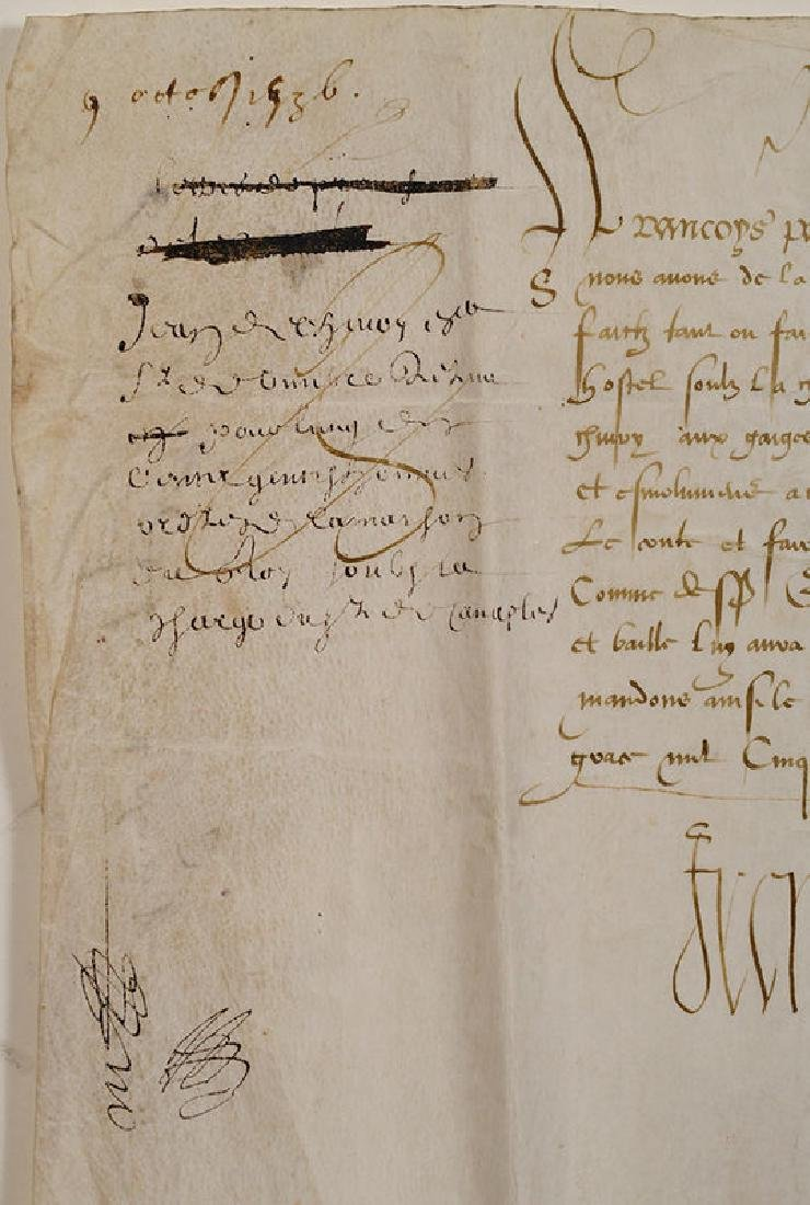 A Francis I, King of France, Document - 3