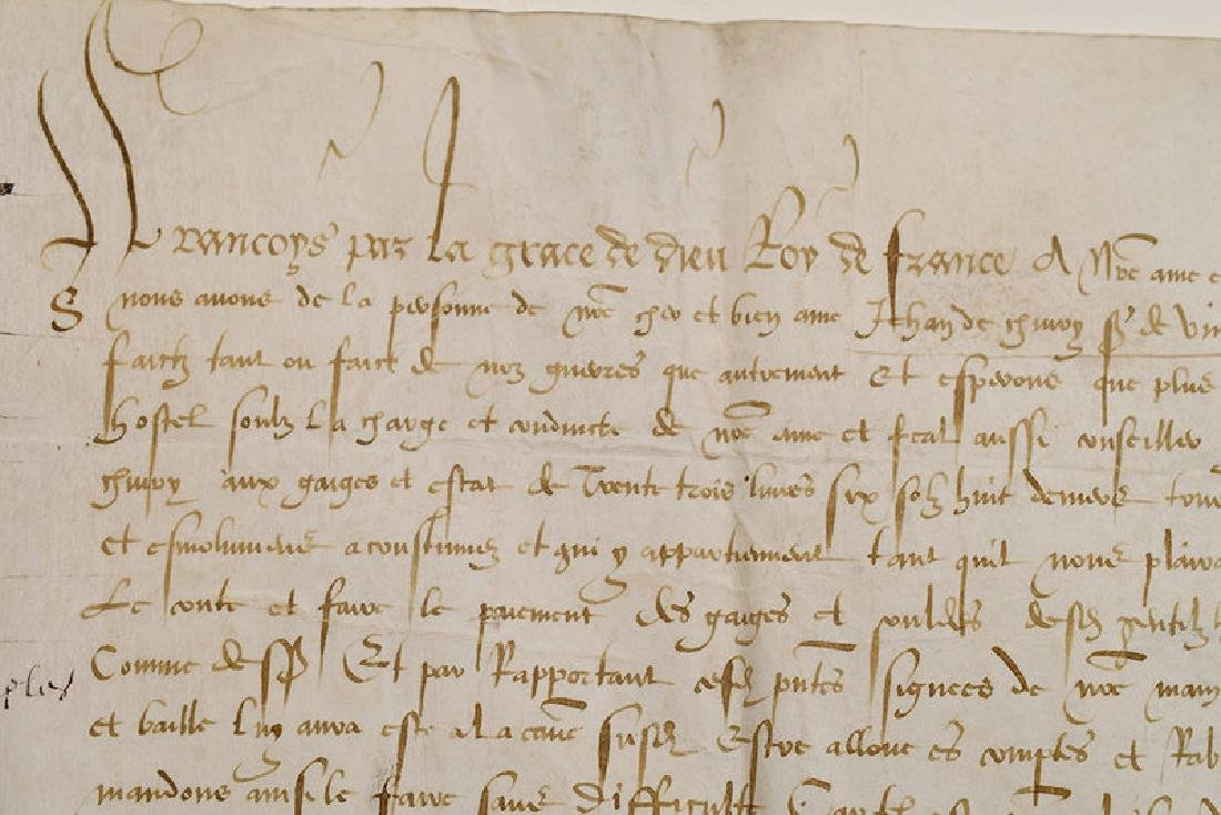 A Francis I, King of France, Document - 4