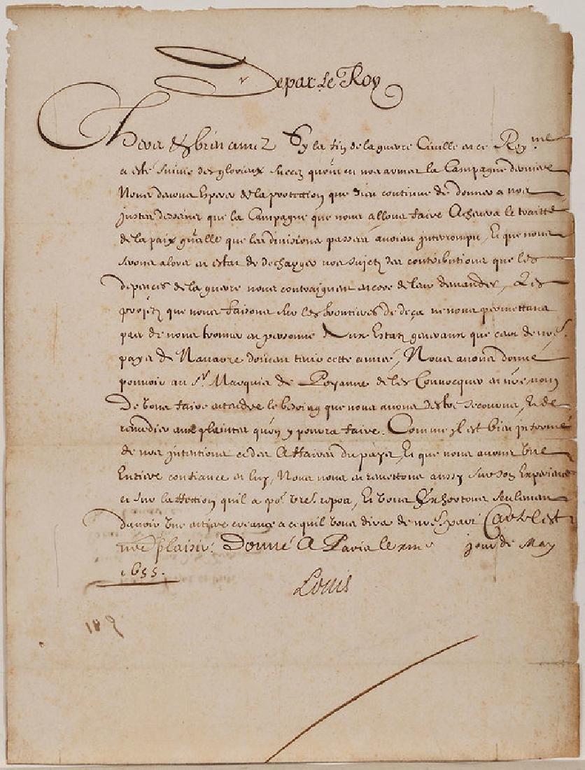 A Louis XIV Royal Document