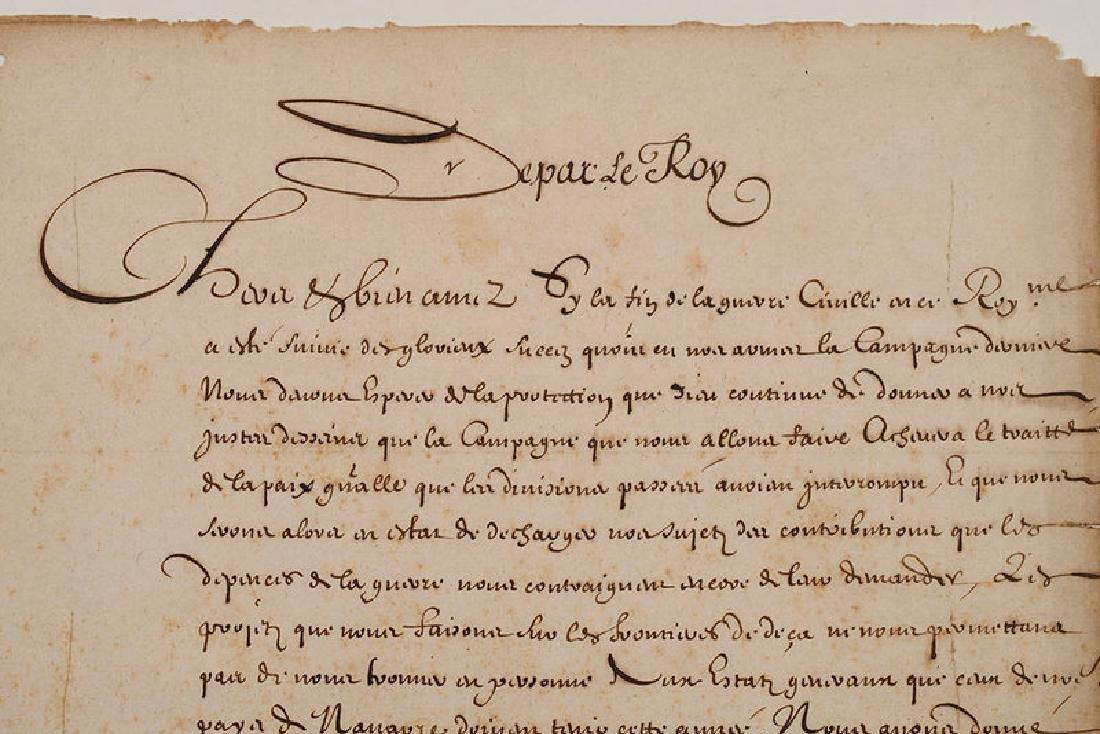 A Louis XIV Royal Document - 2