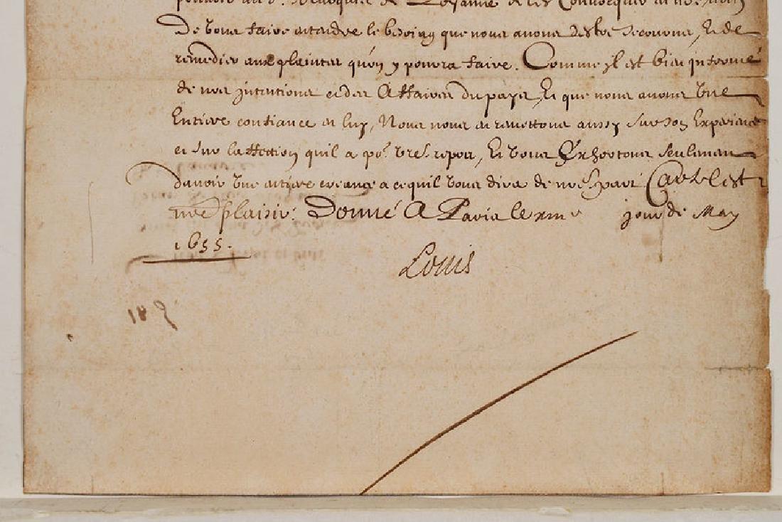A Louis XIV Royal Document - 3