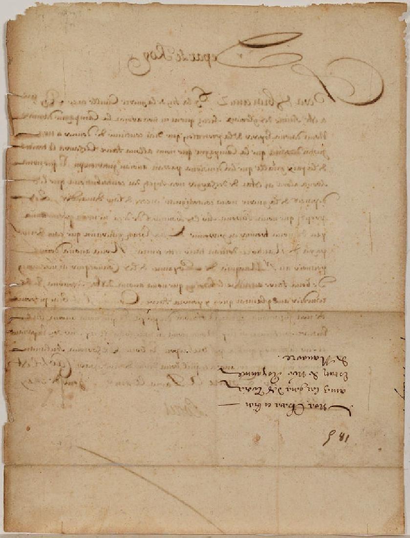 A Louis XIV Royal Document - 5