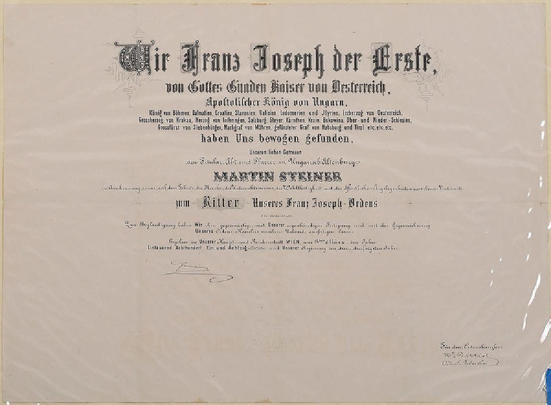 Two Austro-Hungarian Franz Josef Documents - 2