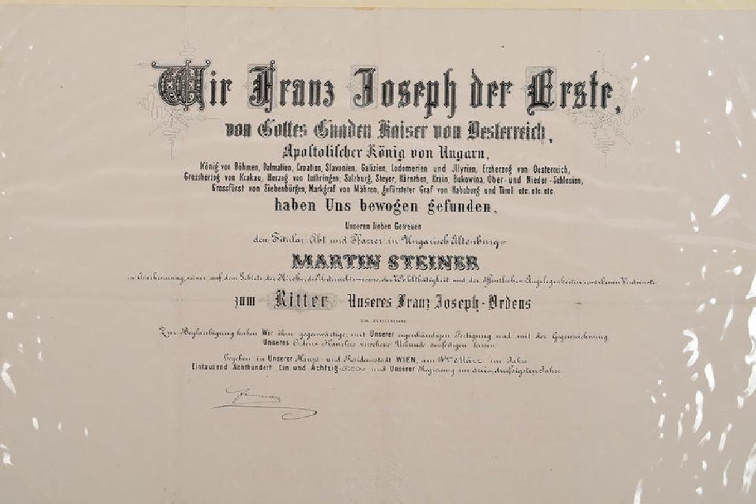 Two Austro-Hungarian Franz Josef Documents - 5