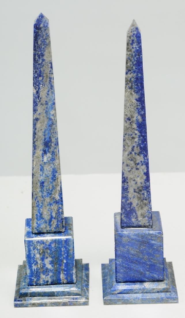 Six Grand Tour Rock Crystal and Stone Obelisks - 2