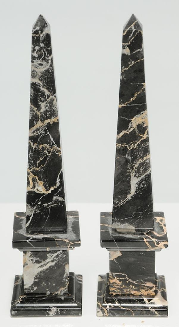Six Grand Tour Rock Crystal and Stone Obelisks - 3