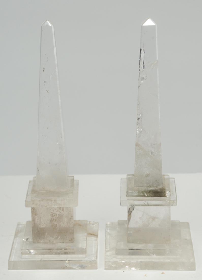 Six Grand Tour Rock Crystal and Stone Obelisks - 5