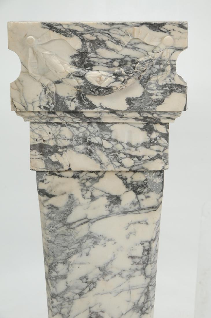 A Fine Pair Carved Marble Pedestals - 2